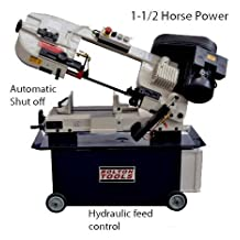 Bolton Tools BS-712N Horizontal/Vertical Bandsaw With Coolant System 7 Inch x 12 Inch Metal Cutting Portable Band Saw