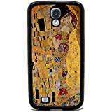 The Kiss by Gustav Klimt - Samsung Galaxy S4 Cover, Cell Phone Case - Black