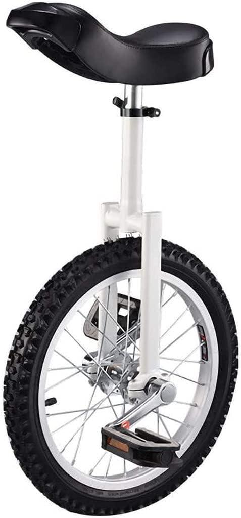 Bicicleta de equilibrio, monociclo, altura ajustable, antideslizante, equilibrio, ciclismo, ejercicio, divertido, bicicleta, entrenador de ruedas con soporte para monociclos, para niños principiante