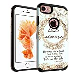 iPhone 8 Case, IMAGITOUCH 2-Piece Style Armor Case with Flexible Shock Absorption Case and Harry Potter Always Cover for iphone 8 - Vintage Harry Potter Dumbledore Always Hybrid