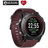 Zeblaze VIBE 3 ECG、電話/SMSリマインダー スマートウォッチ 、IP67防水4.0ブルートゥーススポーツフィットネストラッカー、1.22インチカラータッチスクリーン、活動追跡マルチセンサーモバイルアラート歩数計睡眠モニタースマートウォッチ (Red)
