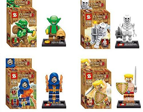 High Quality Clash Of Clans Minifigures 6pcs/set Figures