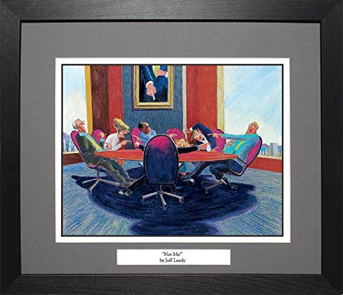 Jeff Leedy NOT ME! CEO Meeting Conference Room VIP Room Wall Hanging Art Framed Print