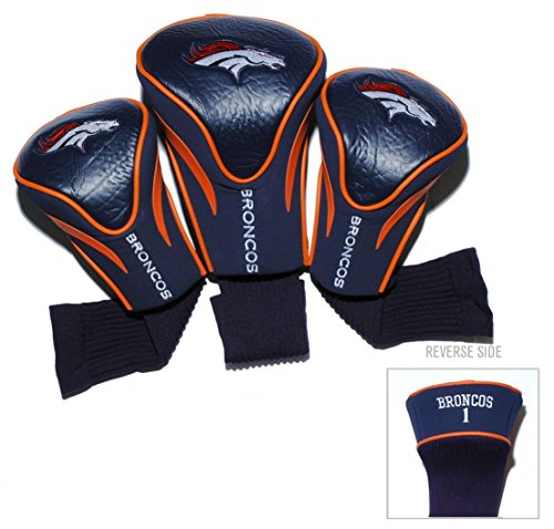 Denver Broncos Golf Club 3 Piece Contour Headcover Set