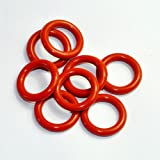 Cary 19mm OD 5mm Thickness Tube Dampers Silicone O-ring Amp For Shuguang 12AX7 12AU7 12AT7 12BH7 EL84 10pcs