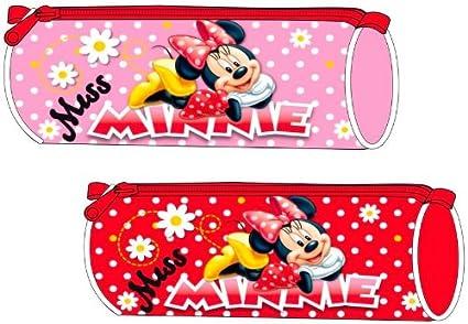 Estuche redondo Minnie Mouse Disney rosa o rojo aleatorio Miss Minnie: Amazon.es: Oficina y papelería