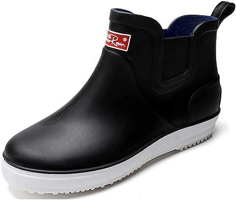 Amazon.com | fereshte Men's Outdoor Waterproof Shoes Short Ankle Rain Boots  | Rain