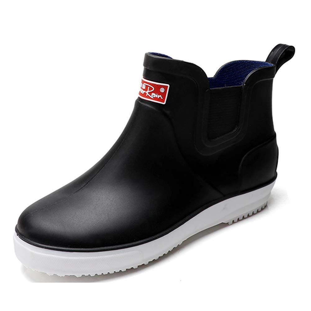 buy popular 39bc5 d4987 Men's Outdoor Waterproof Shoes Short Ankle Rain Boots Black ...