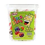 Kerr's Lollipops Double Fruit Big Sour Pops - 165 count, 1.5KG