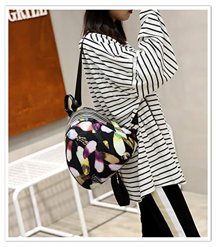 de Cuero Pequeñas Flor Mujer Escuela Niña Mochila y A Hombro Mochilas de Color para Mini de Popoti Mochila C Exterior Mochila de Mochilas Mujer Color Vendimia XnwqaHzx0
