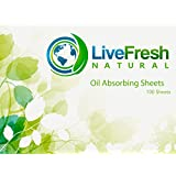 Blotting Paper   PREMIUM Oil Absorbing Sheets - Large 100 Pack - Natural Oil Blotting Sheets