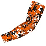 Nexxgen Sports Apparel Compression Arm Sleeve (Single)- 40 Styles and Colors- Men, Women, Youth - Basketball Shooter, Football, Baseball, Lymphedema, Tattoo (Youth Medium, Orange/Black/White)