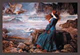 Buyenlarge Miranda the Tempest by John William Waterhouse Wall Decal, 48'' H x 32'' W