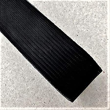 Black 3 Inch Polyester Horsehair Braid Selling per Roll// 22 Yards 16 Different