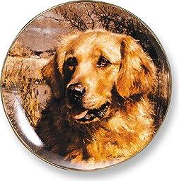 Golden Retriever by Robert Abbett 9.25 inch Decorative Collector Plate