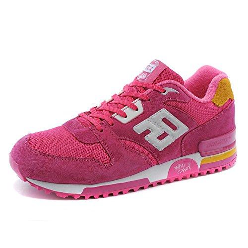 Onemix Dames Paar Casual Retro Sneakers Ademende Sportschoenen Roze