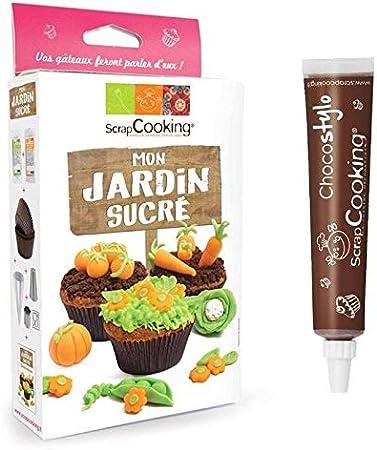 Kit de pastelería Mi jardín dulce + Tubo de chocolate para decorar: Amazon.es: Hogar
