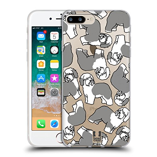 Head Case Designs Old English Sheepdog Dog Breed Patterns 4 Soft Gel Case for iPhone 7 Plus/iPhone 8 ()