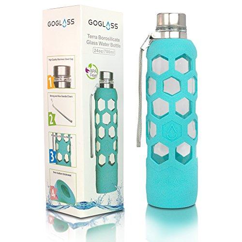 reusable glass water bottle - 9