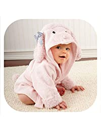 30 Designs Hooded Animal Model ing Baby Bathrobe/Cartoon Baby Spa Towel/Character Kids Bath Robe/Infant Beach Towels,Pink Poodle