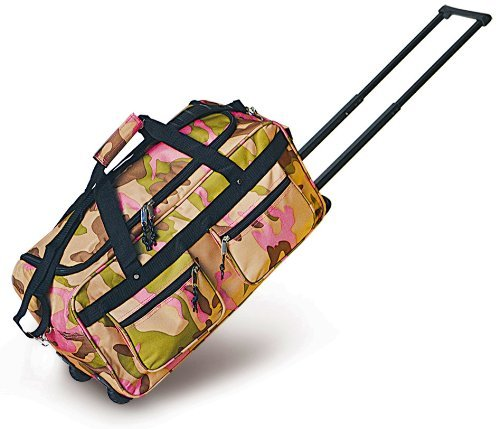 Explorer Duffle Bag, Pink Camouflage, 22 x 11 x 10-Inch