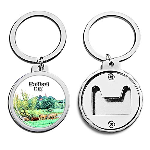 - UK United Kingdom Bottle Opener Keychain Bedford HarroldOdell Country Park Britain Mini Bottle Cap Opener Keychain England Creative Crayon Drawing Crystal Stainless Steel Key Chain Travel Souvenirs