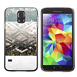 Be Good Phone Accessory // Dura Cáscara cubierta Protectora Caso Carcasa Funda de Protección para Samsung Galaxy S5 SM-G900 // Geometrical Landscape Art Spiritual