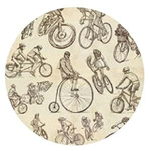 alfombrilla de ratón Ciclismo - bocetos a mano alzada, la colección - ronda - 20cm