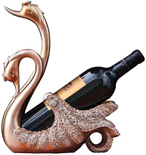 El estante del vino NaNa creativo cisne estante del vino simple europea Decoracion Vino titular de la botella de la sala Mesa de comedor gabinete del vino Decoracion (Color: B) estante de cristal del