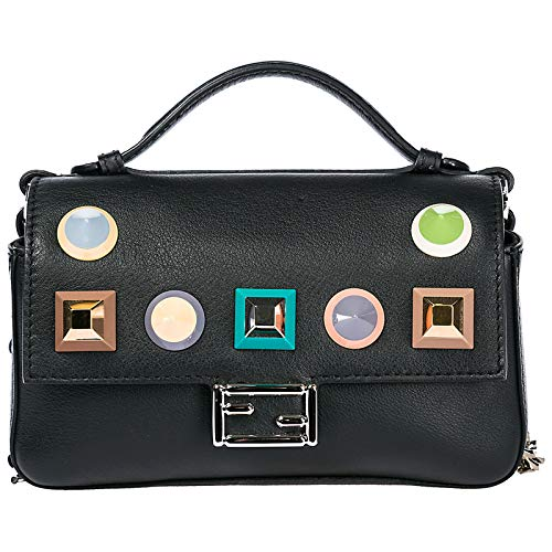 Fendi women Double Micro Baguette crossbody bag nero