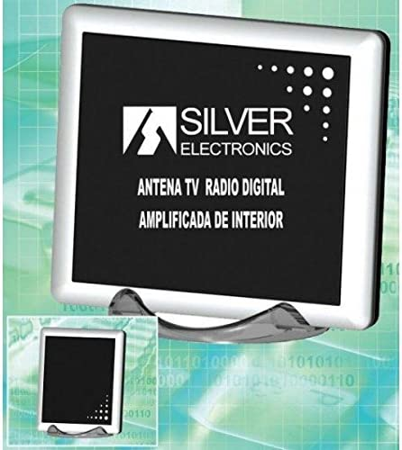 Silver Electronics Antena Interior Digital TV TDT 18dB 6Vdc Y 220Vac