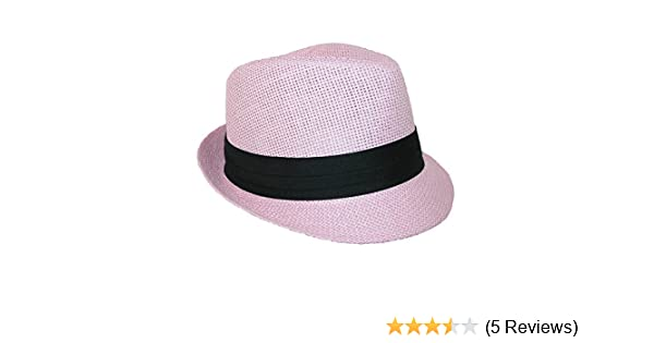 3a06eaa3e Kids' Straw Pleated Band Easter Fedora Hat