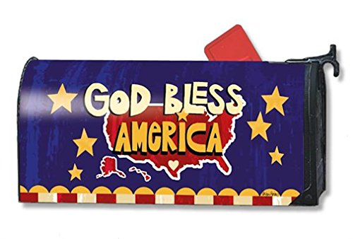 Mailwraps Stars (MailWraps God Bless America Mailbox Cover #01075)