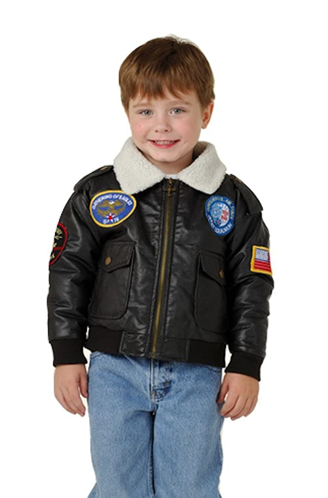Outoor Habitat Boys Brown Bomber Soldier Flight Jacket in Sizes 2T to 7