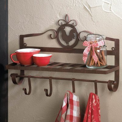 Rooster Silhouette (Koehler Home Decor Accent Rooster Silhouette Wall Rack)