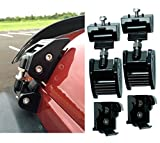 E-cowlboy Latest Upgrade Version Aluminum Kit Assembly Locking Hood Catch Black Hood Lock Set - Pair for Jeep Wrangler Jk & Unlimited 2007-2016 2dr & 4dr (Black)