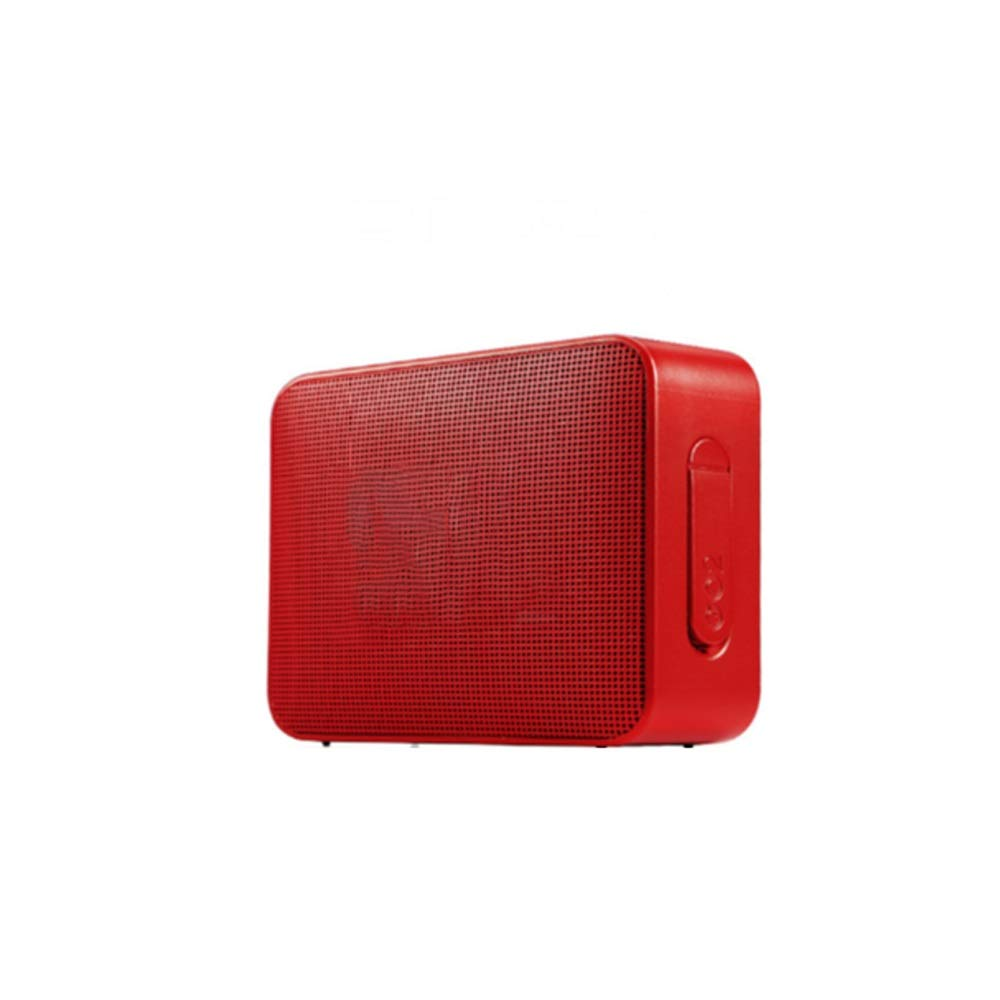Tong ブルートゥースの可聴周波車の小型スピーカーは旅行し、屋外の演劇を運ぶことができます (色 : ブラック) B07QS913TK 赤  赤
