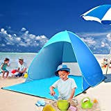 Pop-up Beach Tent, TopDirect Portable Outdoor Automatic Beach Tent Anti-UV Sun Shelter Protection Beach Shade Camping Tent Baby Tent for Outdoor Activities (for 2-3 Person)