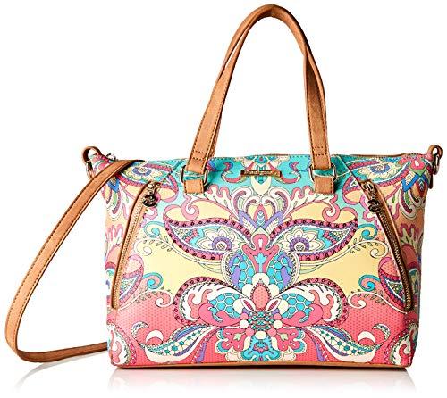Desigual - Bag Grand Valkiria Piadena Women, Carteras de mano con asa Mujer, Naranja (Coral), 10x23.8x29.8 cm (B x H T)