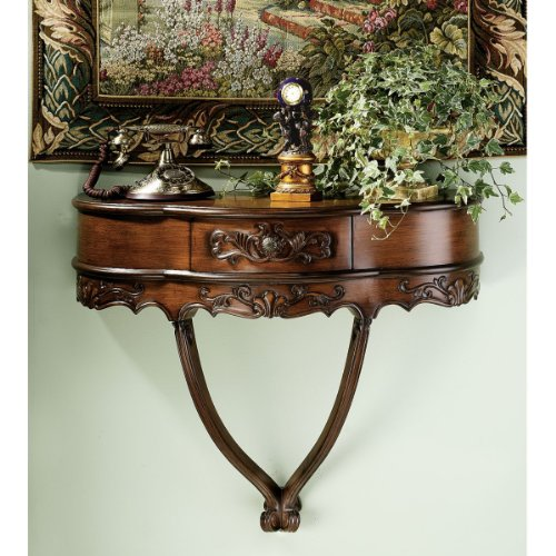 Antique Replica Hand-carved French Rococo Wall Console -