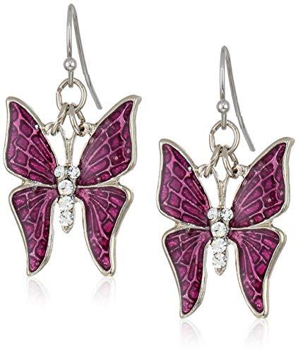 Enamel Butterfly Earrings - 8