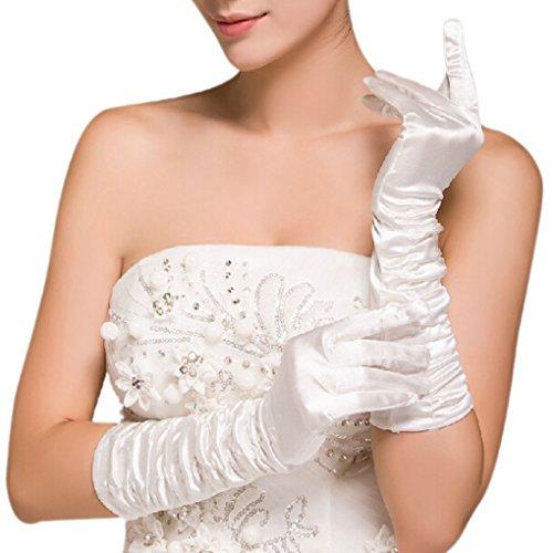 FAKEFACE 新婦 花嫁 手袋 ウェディング用品 ロンググローブ 結婚式 披露宴 ホワイト