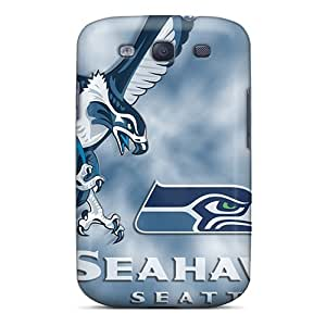 Shock Absorbent Hard Phone Case For Samsung Galaxy S3 With Support Your Personal Customized Nice Seattle Seahawks Image KimberleyBoyes