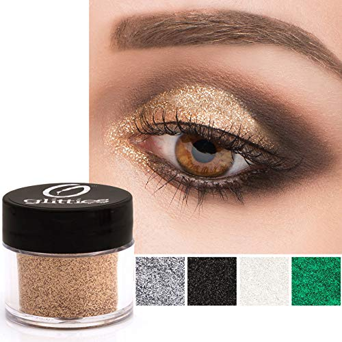 GLITTIES COSMETICS Extra Fine Glitter Powder-Make Up Body Face Hair Lips & Nails-(Sparkling...