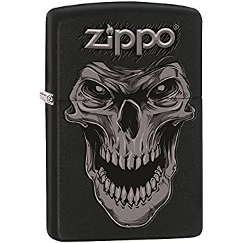 7fd112d7693e Zippo Custom Design Lighter Skull Face Black Matte Windproof Collectible  Lighter. Made in USA Limited Edition   Rare