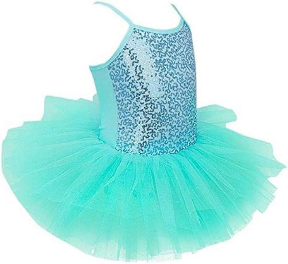 ESHOO Kinder M/ädchen Pailletten Leibchen Ballett Tutu Kleid Ballerina Trikot Outfit Dance Wear Kost/üme f/ür 3-8 Jahre