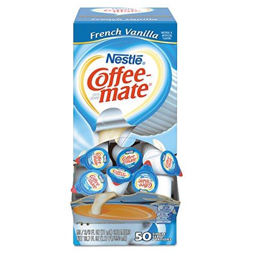 Coffee-mate 35170BX French Vanilla Creamer, 0.375oz (Box of 50) French Vanilla Cream