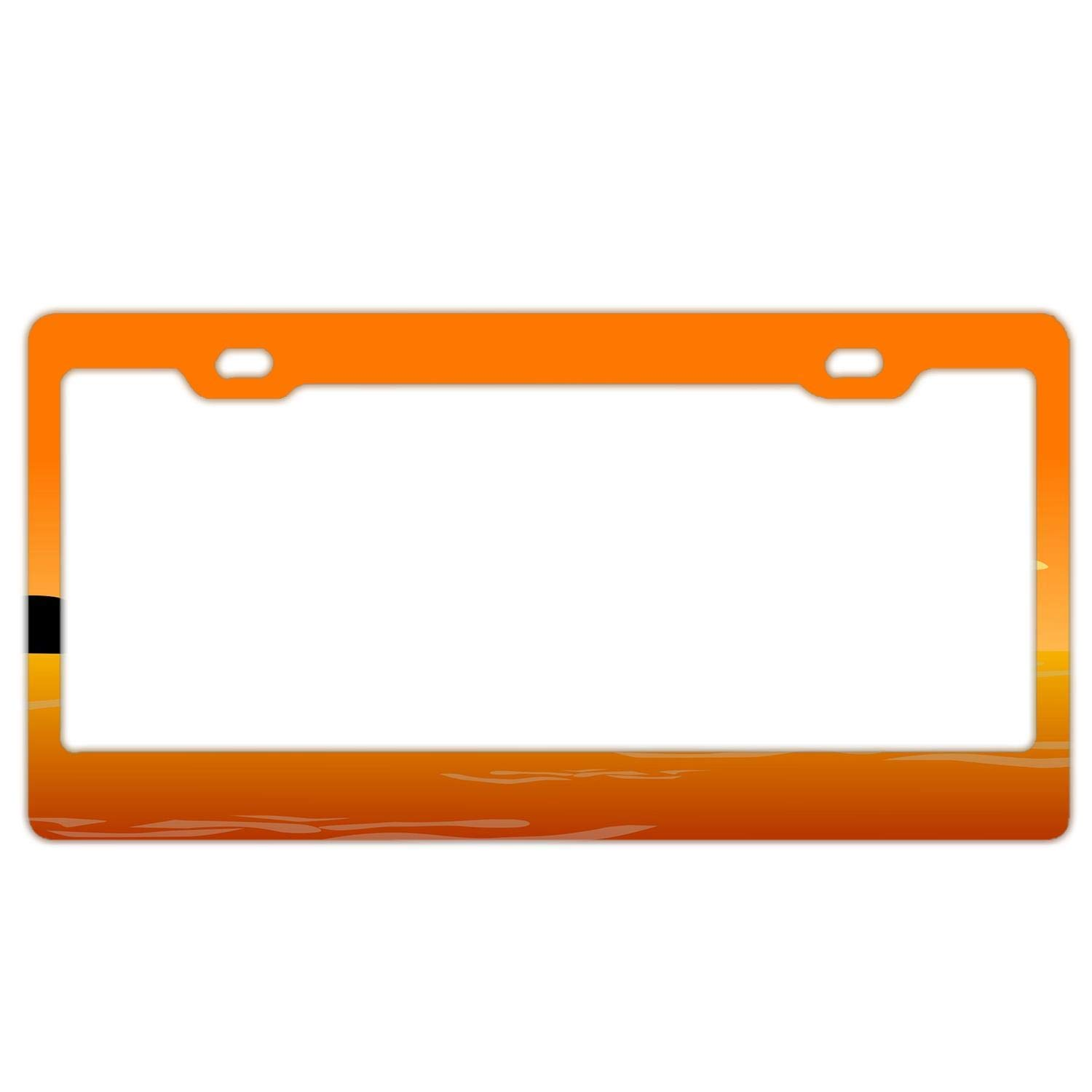 2X FORTE Stainless Steel METAL License Plate Frame Rust Free W// Caps