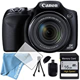 Canon PowerShot SX530 HS + SDHC 16GB + Tripod + digitaluniverse Bag + Battery + Reader + Cleaning Kit + Screen Protector + Memory Card Wallet , plus free accessories