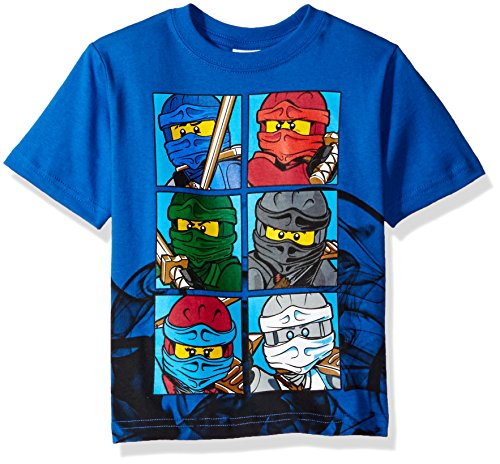 LEGO Ninjago Boys' Little T-Shirt, Blue, 7